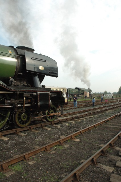 Flying Scotsman and Earl Bathurst in steam.