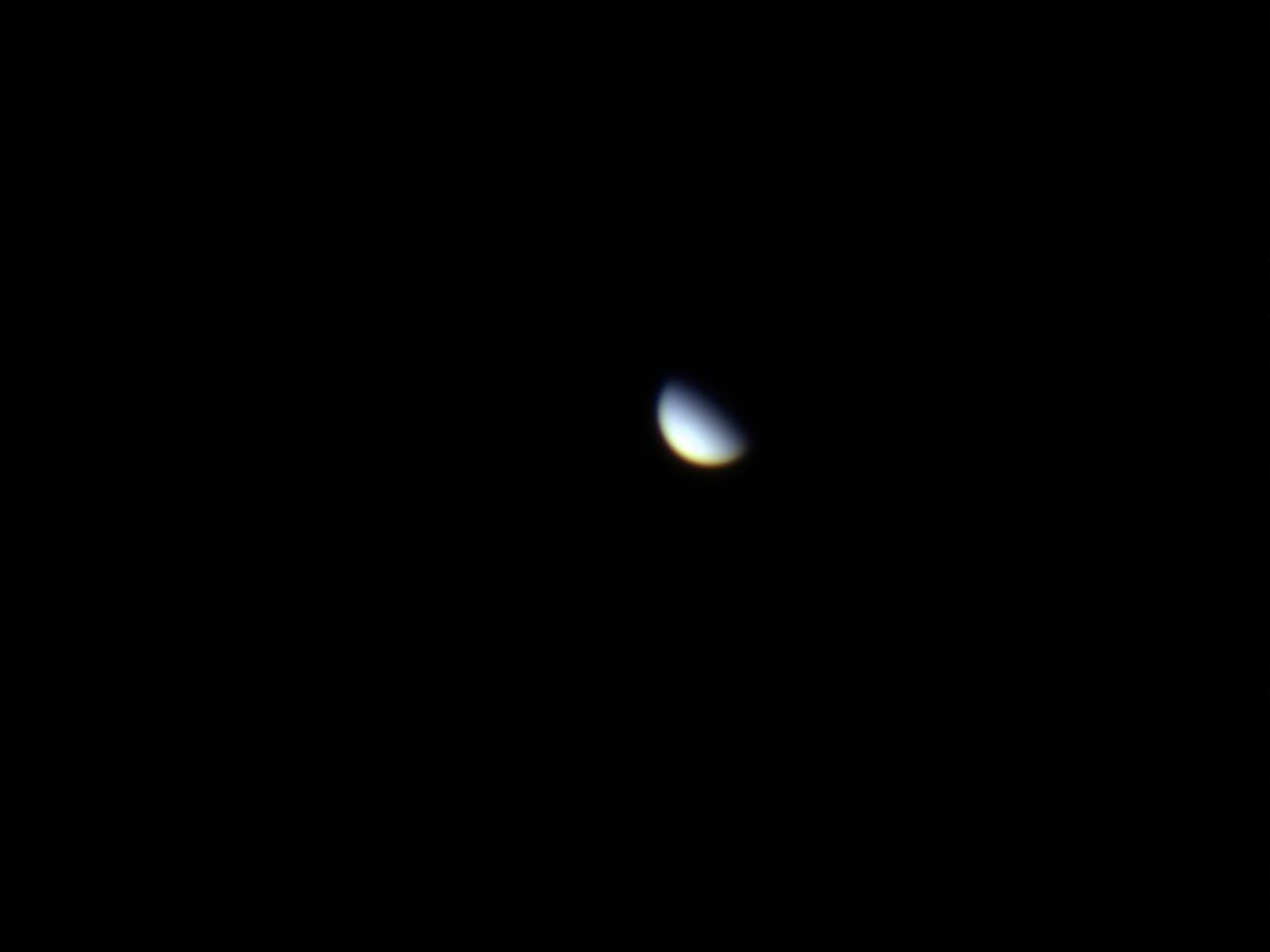 Venus in the morning sky.
